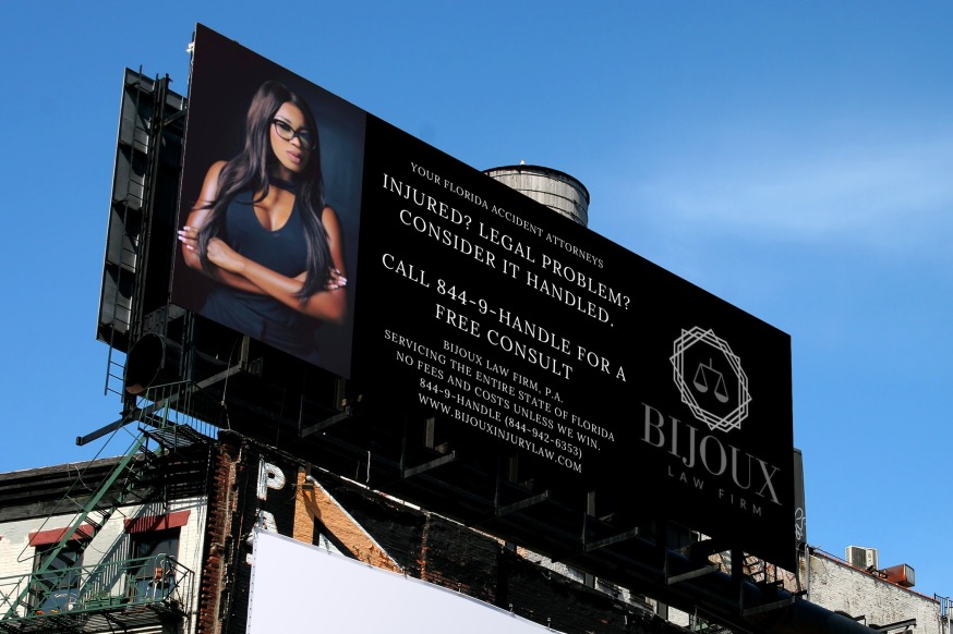 2018 bijoux law firm billboard